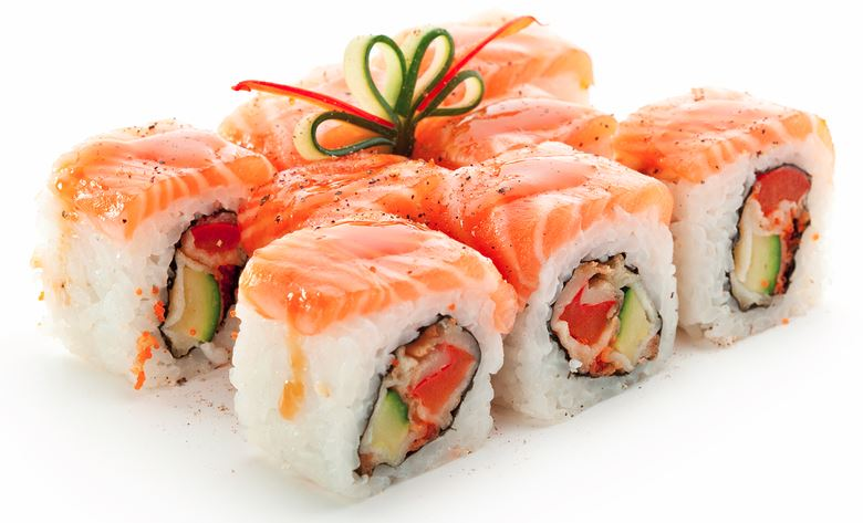 Sushi roll from Osaka Japanese Bistro