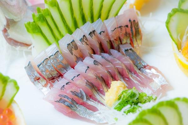 Fresh aji sashimi by Osaka Japanese Bistro