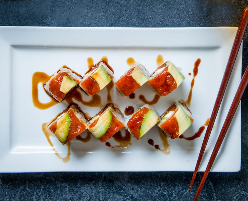 Kai's special sushi roll at Osaka Japanese sushi restaurant
