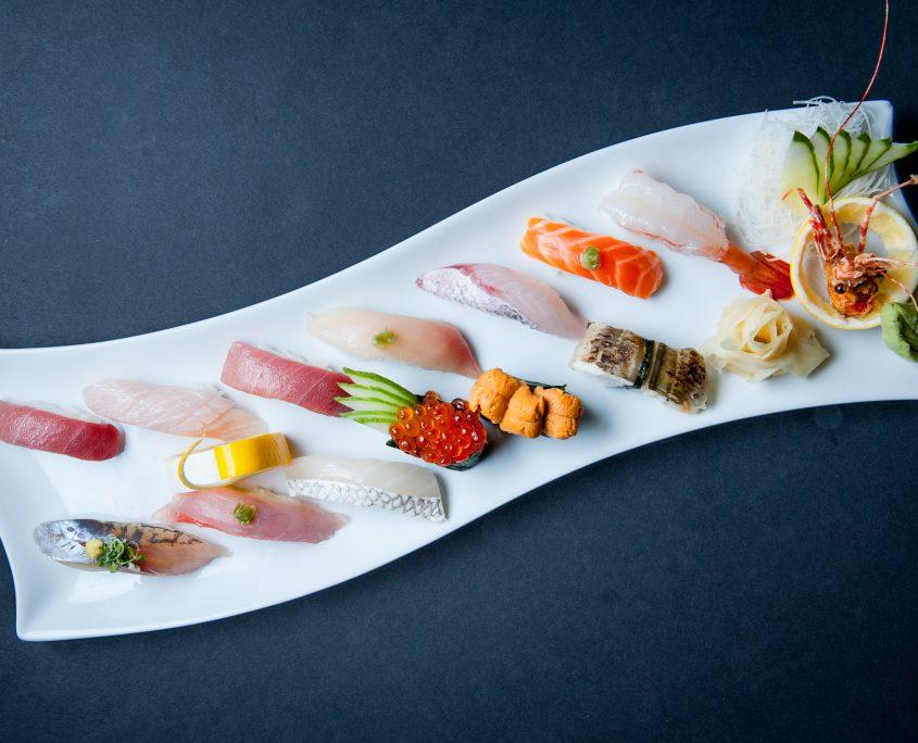 Osaka Japanese Bistro nigiri plate for sushi catering service
