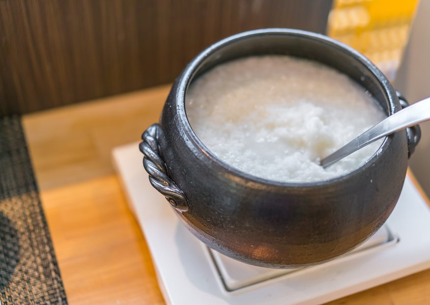 Japanese rice porridge breakfast food (okayu)
