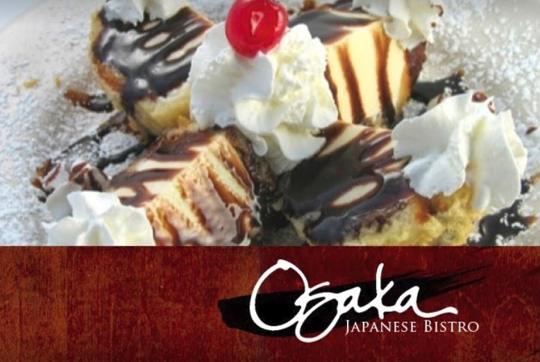 Osaka japanese bistro tempura ice cream dessert dish